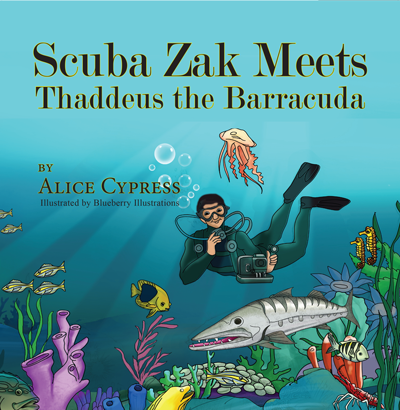 Scuba Zak Meets Thaddeus the Barracuda
