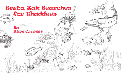 Scuba-Zak Searches for Thaddeus coloring book